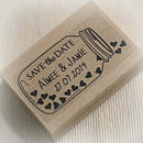 Jar Of Hearts Save The Date Stamp