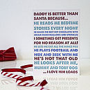 Better Than Santa Personalised Christmas Card