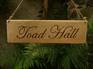 Personalised Vintage Wooden Signs - outdoor decorations