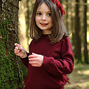 Girls Cashmere Blend Claret Jumper
