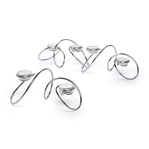 'T Loop' Tea Light Holder Chrome - table decorations