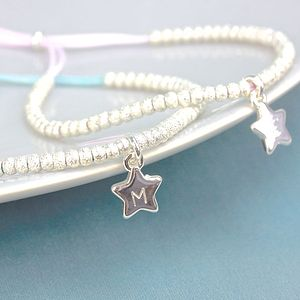 Personalised Sparkly Bead And Star Bracelet - bracelets & bangles