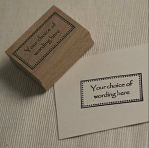 Personalised Frame Rubber Stamp - wedding stationery