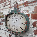 Distressed Industrial Wall Clock