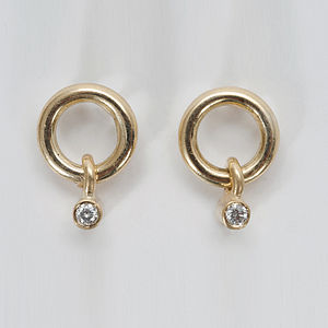 18ct Gold Circle Earrings - earrings