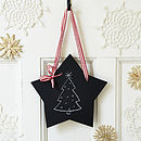 Christmas Small Star Chalkboard