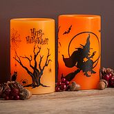 Halloween Wax L.E.D Candle - home