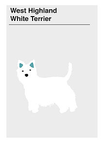 'White Terrier' Greeting Card