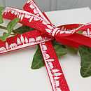 25m Roll Of Vintage Village Christmas Ribbon