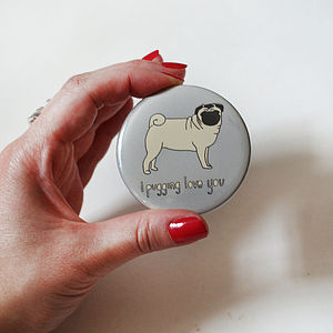 'I Pugging Love You' Mirror - compact mirrors
