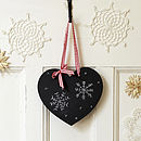 Christmas Small Heart Chalkboard