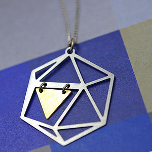 Mixed Metal Geometric Necklace - necklaces & pendants
