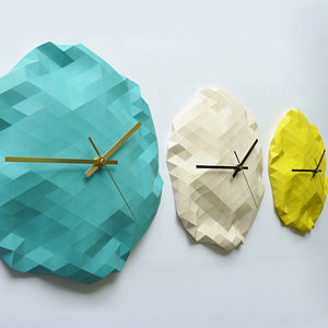 Faceted Wall Clock - clocks