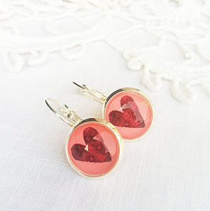 Silver Heart Earrings - earrings