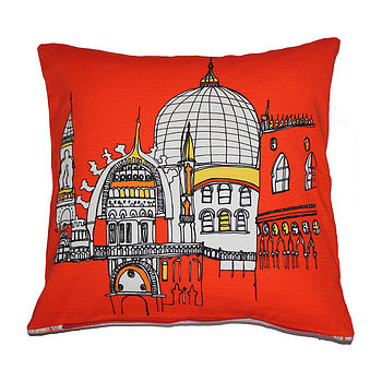 Venice Cushion In Red