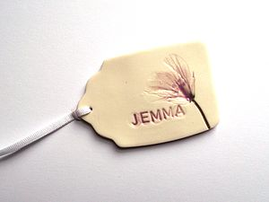 Handmade Personalised Gift Tag With Flower
