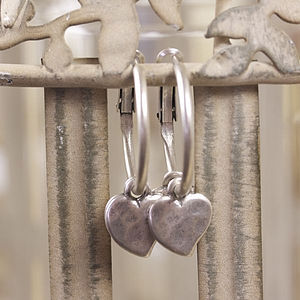 Double Heart Earrings - earrings