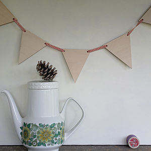 Wooden Bunting Shapes To Paint Or Decorate - outdoor decorations