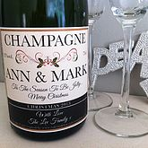 Christmas Champagne Label - food & drink