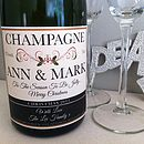 Personalised Champagne/Prosecco Label