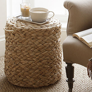 Woven Pouffe - autumn home updates