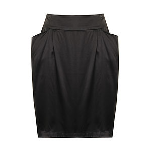 Silk Skirt With Slung Pockets - skirts & shorts