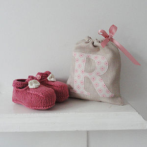 Personalised Baby Booties In A Bag