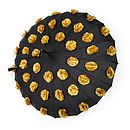 Black and Gold Flower Pot Umbrella