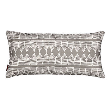 Huts Rectangle Cushion Stone Grey