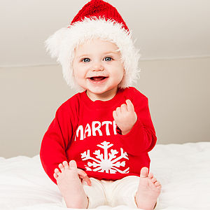 Personalised Snowflake Christmas Top - baby's first christmas