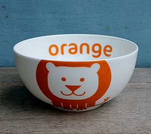Lion Fine Bone China Bowl - children's tableware