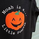 Personalised 'Pumpkin' Halloween Romper