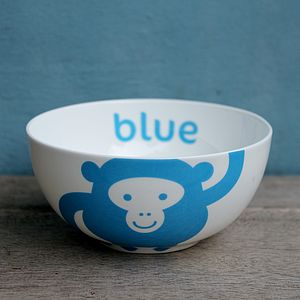 Monkey Fine Bone China Bowl