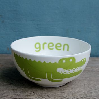 Crocodile Fine Bone China Bowl
