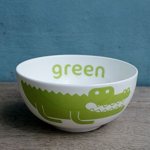 Crocodile Fine Bone China Bowl - kitchen