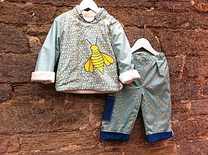 Boys Busy Bee Fleece And Trousers - coats & jackets