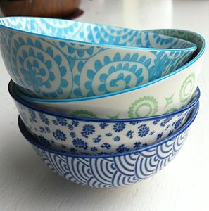 Set Of Four Rice Bowls - bowls