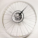 Bike Wheel Sprocket Clock Black