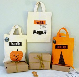 Personalised Halloween Trick Or Treat Bag - party accessories