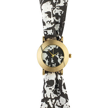 Skulls Big Fabric Watch