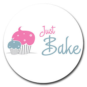 Corporate Logo Cupcake Toppers - cake decoration