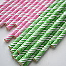 'Eat Drink And Be Merry' Paper Straws