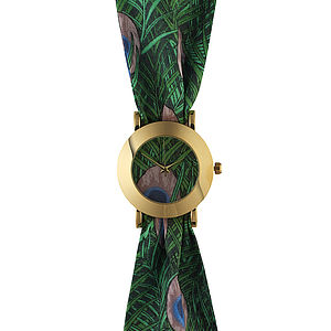 Peacock Big Fabric Watch - watches