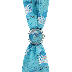Birds Small Fabric Watch - watches
