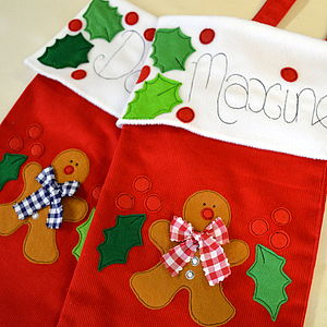 Personalised Christmas Children's Stocking - stockings & sacks
