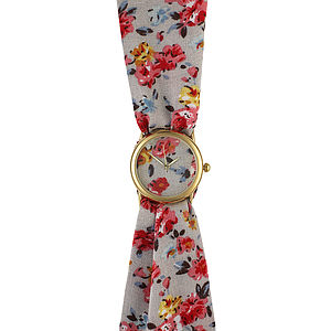 Flowers Small Fabric Watch - watches