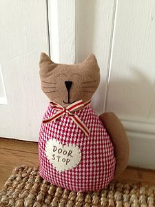 Country Style Cat Door Stop - door stops