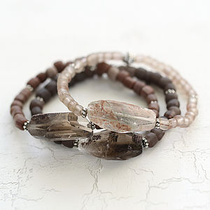Raw Gemstone Bracelet - women's jewellery