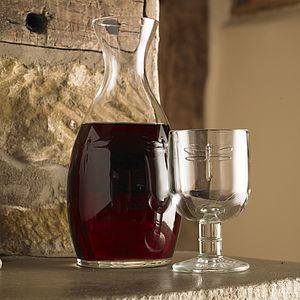 Embossed Dragonfly Carafe And Wine Glass Gift Set - decanters & carafes