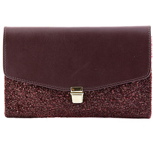 The Betsy In Burgundy - clutch bags